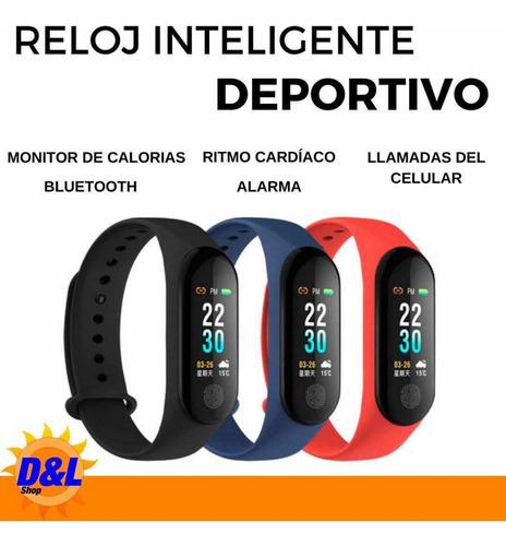 Sport Band Bluetooth - Banda Inteligente En Negro Y Azul