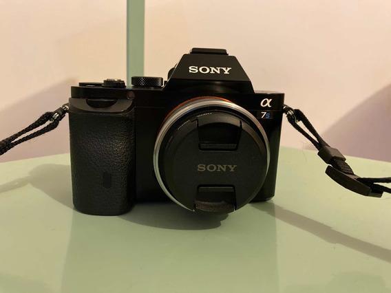 Câmera Sony 7s Alpha Com Lente
