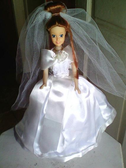 Boneca Ruiva De Noiva 30cm Leia Descricao