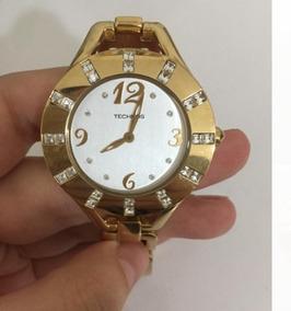 Relógio Technos Rc000 Dourado Original Seminovo Funcionando
