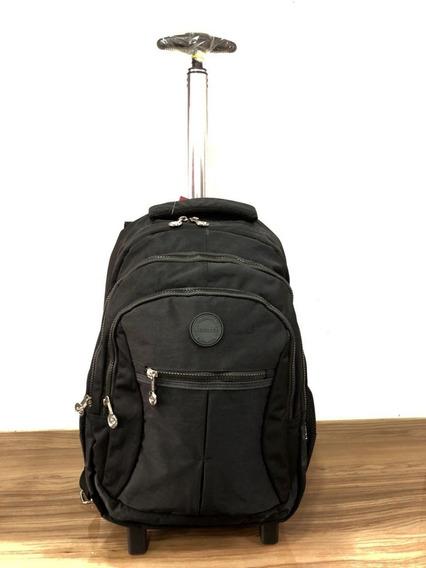 Mochila Notebook Laptop Com Rodas Escolar Ou Viagem Tactel