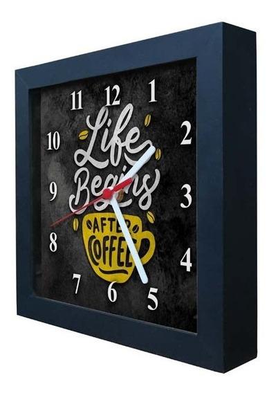 Relógio Decorativo Caixa Alta Tema Café - Qw020