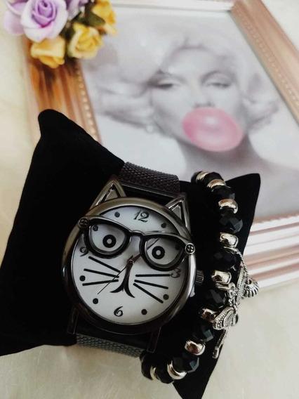 Relógio Femininos Gatinho Barato