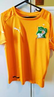 Camisa Futebol Infantil Costa Do Marfim Puma 2014