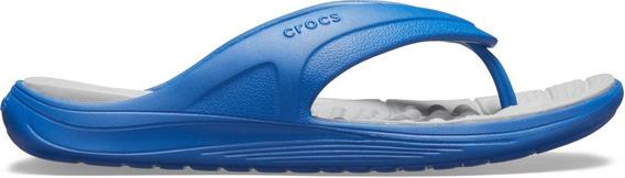 Crocs Reviva Flip - Azul E Cinza