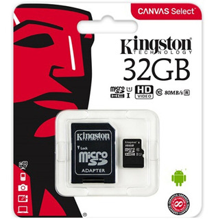 Memoria Micro Sd Clase 10 Kingston 32 Gb