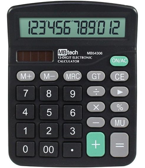 Calculadora Mesa Comercial 12 Dígitos Trabalho Escritório
