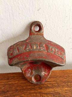 Antiguo Destapador Refresco Canada Dry En Hierro Fundido