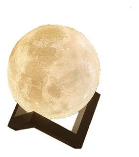 Lámpara De Luna (moonlamp) 20 Cm Ideal Ambientación