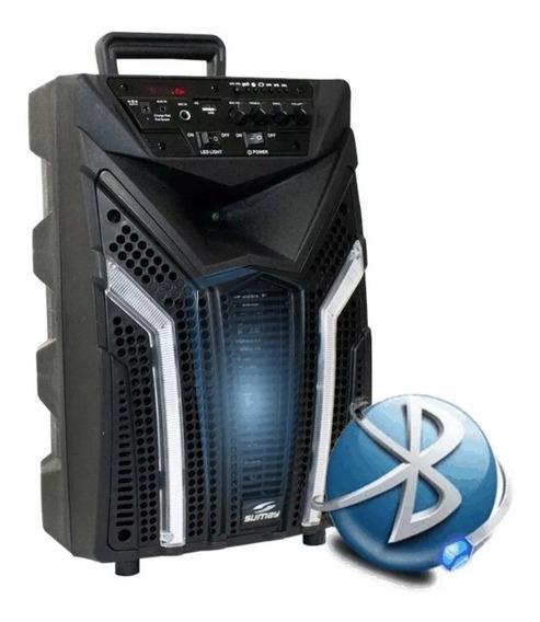Caixa Amplificada Som 2500w Grave 12pol Bluetooth Led Fm Usb