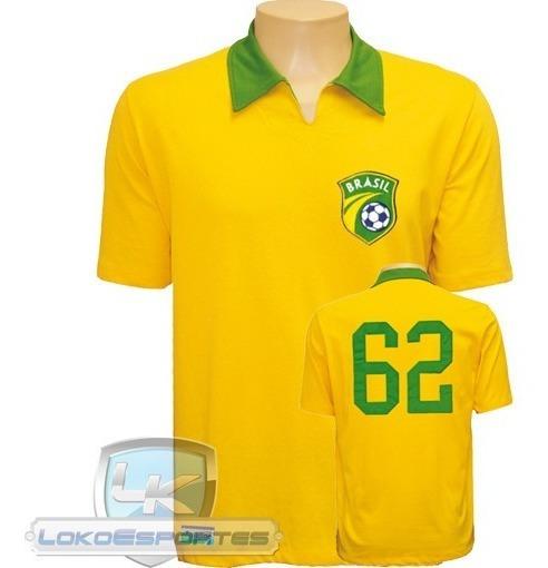 Camiseta Retrô 1962 Brasil Seleção Braziline Promoção !!!