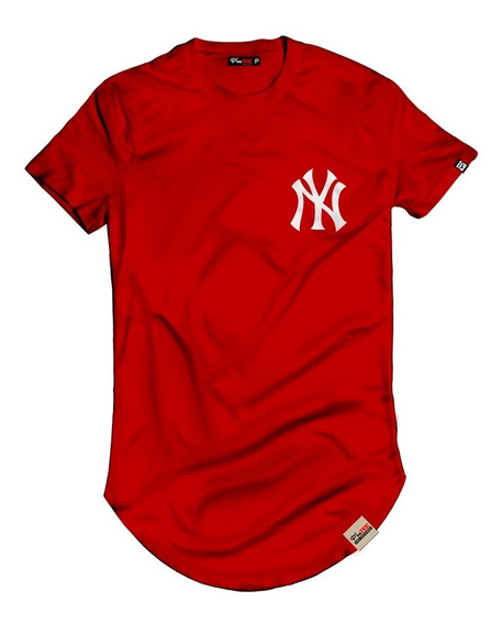 Camiseta Camisa Longline New York Peito Alongada Oversized
