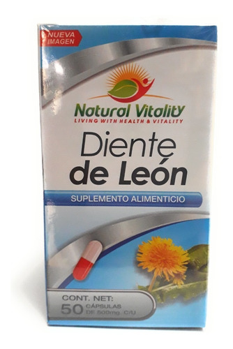 Diente De Leon Natural Vitality 50 Cap Envio Full