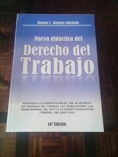Libro Derecho Del Trabajo Laboral - Rafael Alfonzo Guzmán