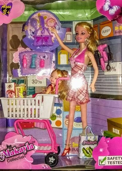 Muñeca Makayla Tipo Barbie Con Accesorios