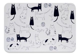 Alfombra Placa Baño Cats Morph