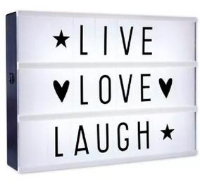 Cartel Luminoso Led Pizarra Light Box Cine Letras Portatil