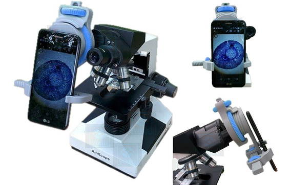 Suporte Celular Smartephone Para Microscópio Olympus Cx43