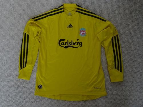 Camisa Liverpool - 2010/11 - Criança -perfeita- Goleiro