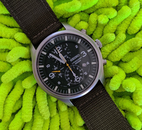 Relógio Seiko Cronógrafo Militar 100m, Snda27