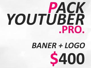 Banner + Logo | Pack Youtuber Pro