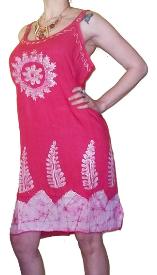 Vestido Solero Hindú Playero Pareo Importado India Xl