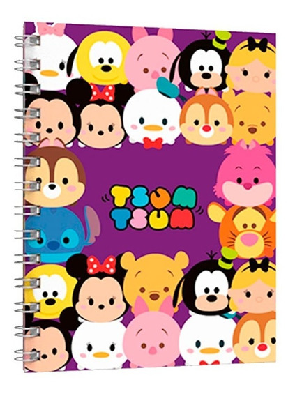 Cuaderno Universitario Tapa Flexible Tsum Tsum