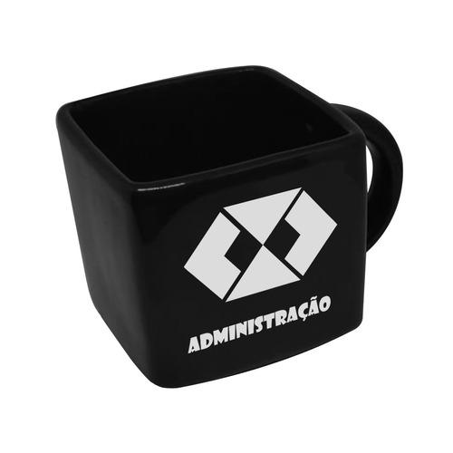 Caneca Cubo Quadrada Profissao Administraçao 200ml