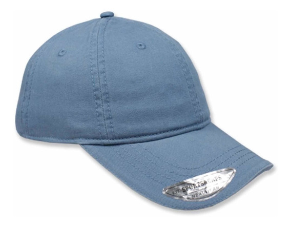 Gorra Lisa Sport Caps Copa Baja Algodón Para Niño Azul Acer