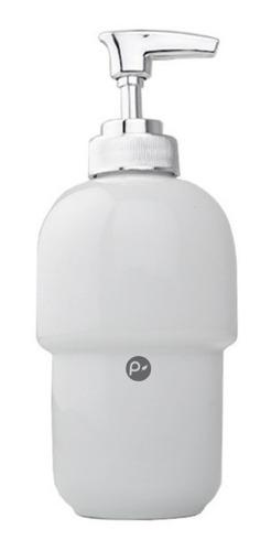 Dispensador De Jabon Liquido Blanco En Porcelana De Alta Cal