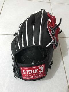 Guante Beisbol Softbol Piel Strike 3 Jardinero Field Manopla