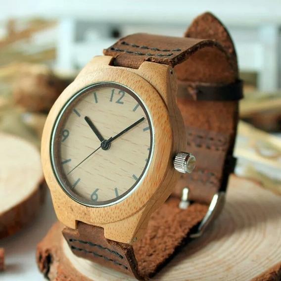 Relógio Unissex Bambu Madeira Bobo Bird A44 Promoção