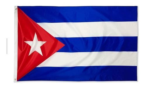Imagen 1 de 5 de Bandera De Cuba 150 Cm X 90 Cm