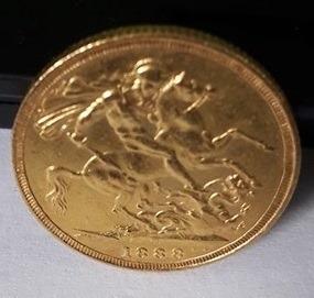 Moeda De Ouro Victoria 8 Gramas D:g - Britt: Reg - F:d: 1888