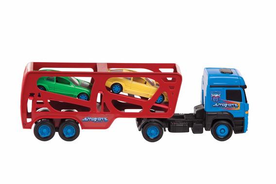 Transformers Em Ação Caminhão Cegonheira Com 2 Carrinhos