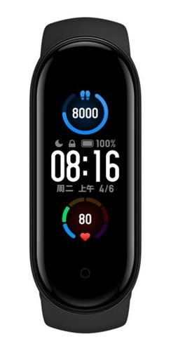 """Xiaomi Mi Smart Band 5 1.1"""" caja de  plástico pc malla  black de  elastómero termoplástico y aleación de aluminio XMSH10HM"""