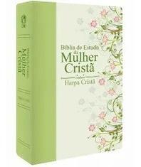 Bíblia De Estudo Da Mulher Cristã Verde Média Com Harpa.