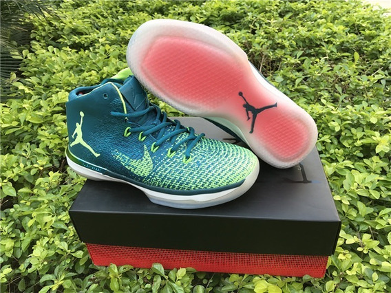 Tenis Air Jordan 31s rio Ghost Green-white Originales