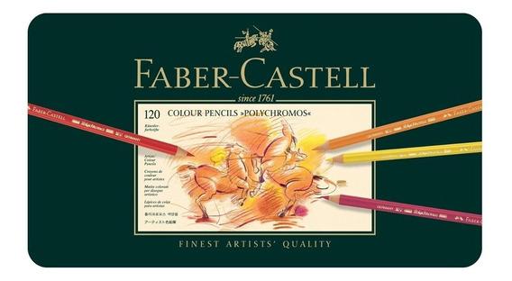 Faber Castell Polychromos Set De 120 Lápices Óleo - Metálico