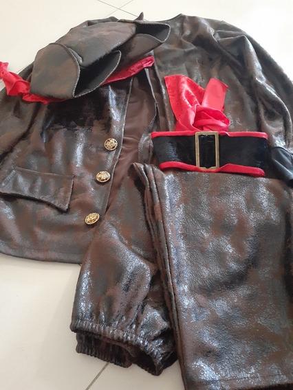 Disfraz De Pirata Jack Parrow Original Carnavalito Talla 4