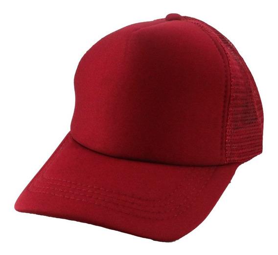 Gorra Con Visera Curva Y Red Color Entero Art: 12170013