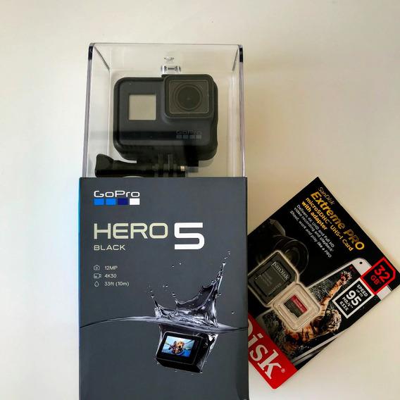 Camera Gopro Hero 5 Black Edition Nova + Cartão Memória