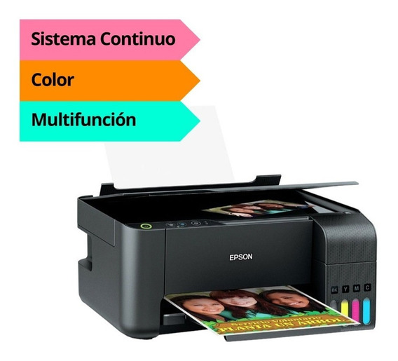 Impresora Epson L3110 Multifuncion Ecotank Sis Continuo Full