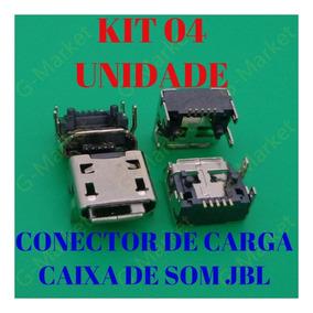 Conector De Carga Usb Caixa Som Jbl Flip3 (kit 4- Unidade )