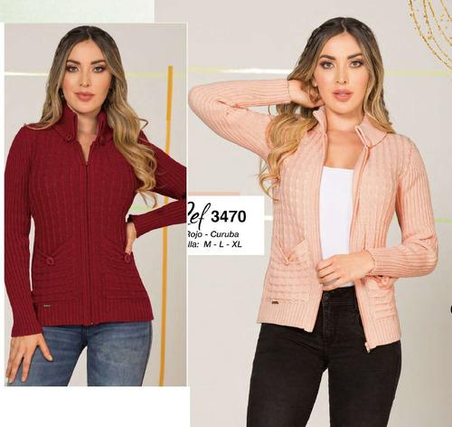 Hermoso Saco Largo Sueter Sweater Para Mujer Tejido Mujer