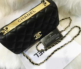 Bolsa De Luxo Preta Pequena Clássica Promoção!!