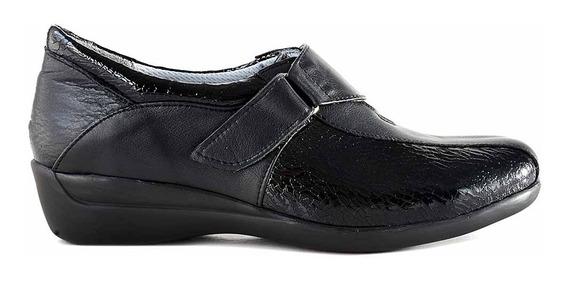 Zapatilla Mujer Cuero Briganti Zapato Negro Mczp05185/vh