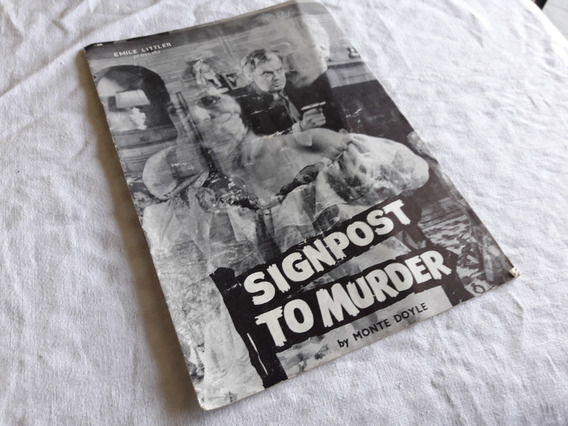 1962 - Programa Signpost To Murder - Autografado