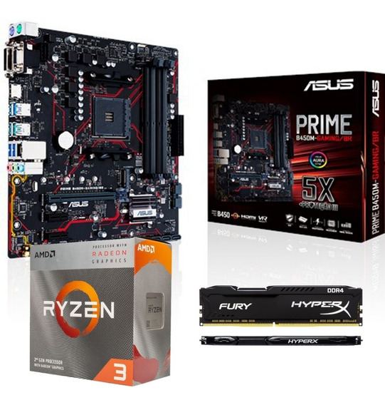 Kit Upgrade Gamer Amd Ryzen 3 3200g / B450 Gaming Asus/ 8gb