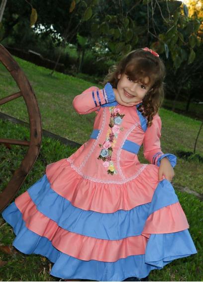 Vestido De Prenda Infantil Mod. Kassia Tam 2/4/6/8 C/armação
